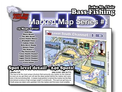 Lake St. Clair Marked Maps HD Complete™